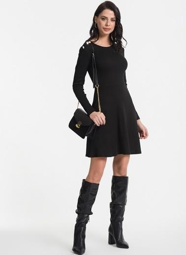 Styletag Düğme Detaylı Elbise Antrasit